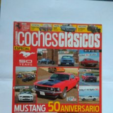 Coches: REVISTA COCHES CLASICOS N116 FORD MUSTANG HARDTOP FASTBACK GT35 MACH SHELBY FIAT 126 OPEL REKORD. Lote 125345100