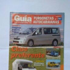 Coches: GUÍA FURGONETAS Y AUTOCARAVANAS Nº 207 PEUGEOT EXPERT CHALLENGER GENESIS NISSAN CABSTA RENAULT MASTE. Lote 126108410