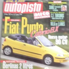Coches: REVISTA AUTOPISTA NUMERO 1821 7 AL 13 JULIO 1994 FIAT, MAZDA. Lote 126157239