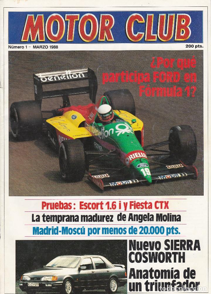 revista motor club numero 1, marzo 1988 - Comprar Revistas antiguas ...