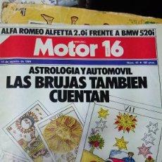 Coches: REVISTA MOTOR 16 DEL AÑO 84. Lote 126719543