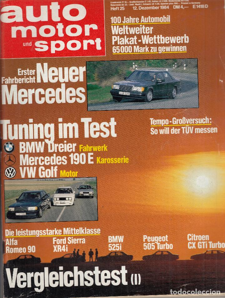 Revista Auto Motor Sport Pru Mercedes W12 Co Buy Old Car