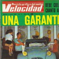 Coches: REVISTA VELOCIDAD 1 MARZO 1969 NUEVOS CAMIONES BARREIROS . Lote 126963879