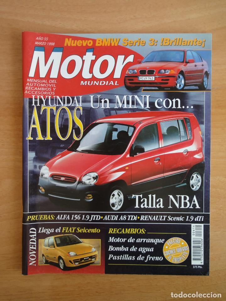 REVISTA MOTOR MUNDIAL. Nº 614. MARZO 1998 (Coches y Motocicletas Antiguas y Clásicas - Revistas de Coches)