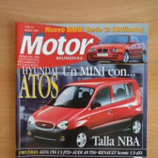 Coches: REVISTA MOTOR MUNDIAL. Nº 614. MARZO 1998. Lote 128347023