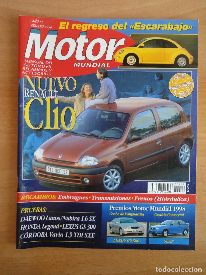 REVISTA MOTOR MUNDIAL. Nº 613. FEBRERO 1998 (Coches y Motocicletas Antiguas y Clásicas - Revistas de Coches)