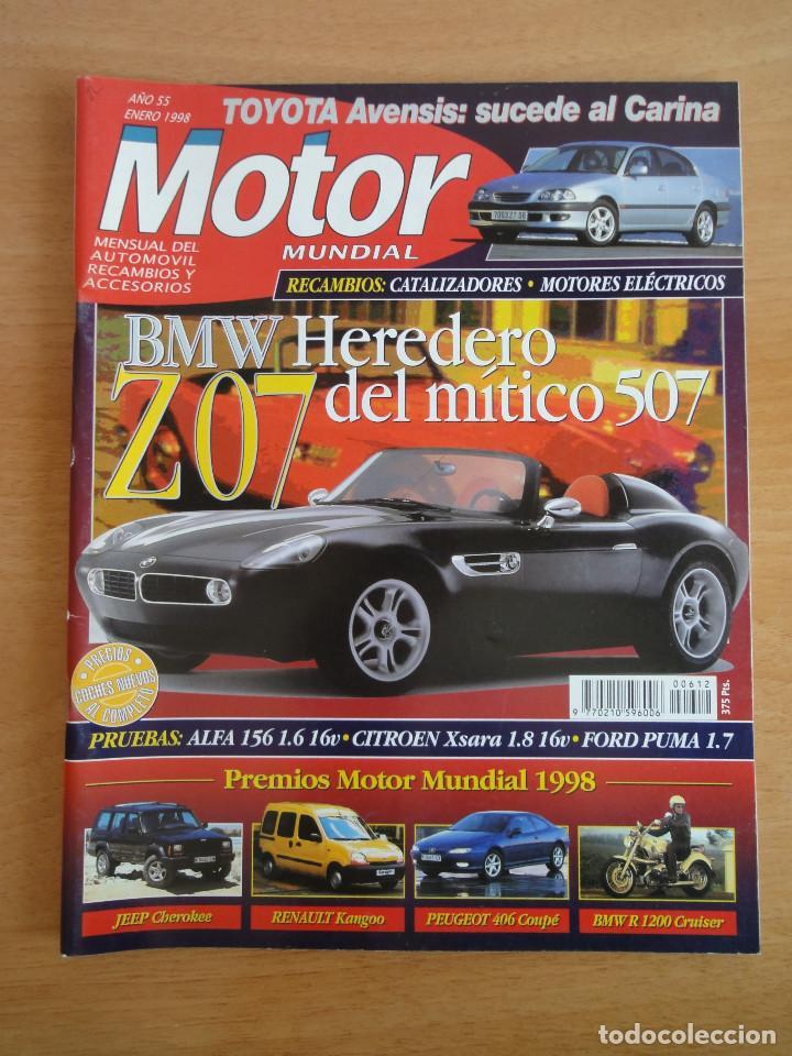 REVISTA MOTOR MUNDIAL. Nº 612. ENERO 1998 (Coches y Motocicletas Antiguas y Clásicas - Revistas de Coches)