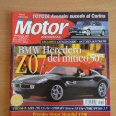 Coches: REVISTA MOTOR MUNDIAL. Nº 612. ENERO 1998. Lote 128347183