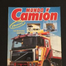 Coches: MUNDO CAMION Nº 1 ABRIL 1989 - CAMIONES - REVISTA. Lote 128567755