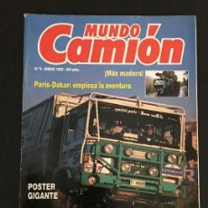 Coches: MUNDO CAMION Nº 9 ENERO 1990 - CAMIONES PEGASO MIDER PARIS DAKAR - REVISTA. Lote 128568759