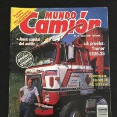 Coches: MUNDO CAMION Nº 14 JUNIO 1990 - CAMIONES PEGASO TRONER RENAULT AE - REVISTA. Lote 128569379