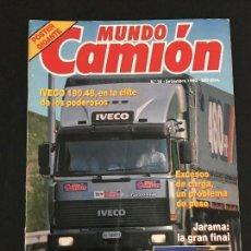 Coches: MUNDO CAMION Nº 16 SEPTIEMBRE 1990 - CAMIONES IVECO JARAMA COLECCIONISMO VOLVO - REVISTA. Lote 128569539