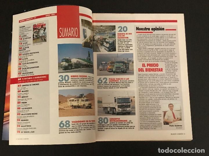 Coches: MUNDO CAMION Nº 31 JUNIO 1992 - CAMIONES VOLVO SALON HANNOVER COLECCIONABLE - REVISTA - Foto 2 - 128571163