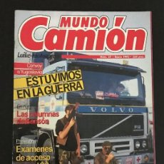 Coches: MUNDO CAMION Nº 37 ENERO 1993 - CAMIONES DAF 75 85 COLECCIONABLE HISTORIA PEGASO - REVISTA. Lote 128571507