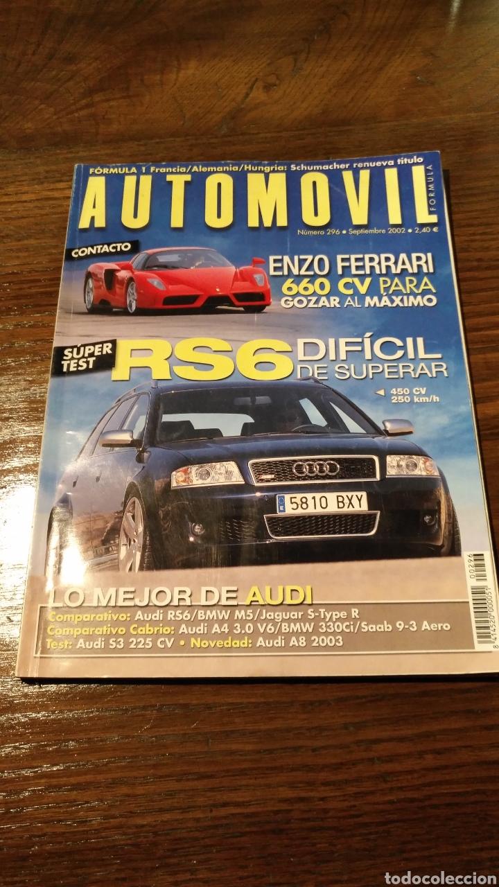 REVISTA AUTOMÓVIL N° 296 (Coches y Motocicletas Antiguas y Clásicas - Revistas de Coches)