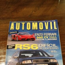Coches: REVISTA AUTOMÓVIL N° 296. Lote 128647090