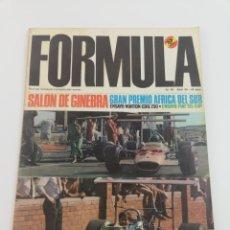 Coches: REVISTA FORMULA NUMERO 30 ABRIL 69 1969 FIAT 125 NORTON CDO.750 VER SUMARIO. Lote 129169838