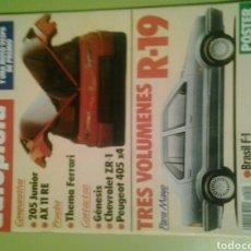 Coches: AUTOPISTA N 1550 AÑO 1989 REVISTA DE COCHES PRU CHEVROLET CORVETTE ZR PEUGEOT 405 X4 LANCIA THEMA. Lote 129478046