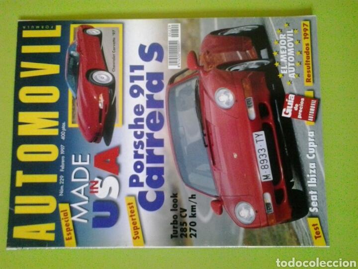 AUTOMÓVIL N 229 AÑO 1997 REVISTA DE COCHES (Coches y Motocicletas Antiguas y Clásicas - Revistas de Coches)