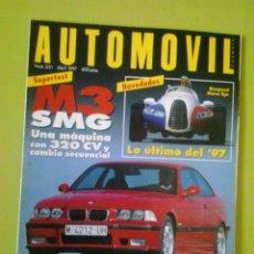 Coches: AUTOMÓVIL N 231 AÑO 1997 REVISTA DE COCHES. Lote 129637175