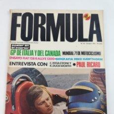 Coches: REVISTA FORMULA NUMERO 60 OCTUBRE 1971 FIAT 128 VER SUMARIO.. Lote 130715395