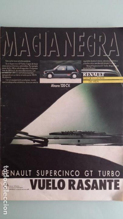 Coches: Revista Coche Actual 19 1988 Citroen BX GTI, Sierra Cosworth; Renault 21 Turbo y 5 GT Turbo - Foto 2 - 130732444