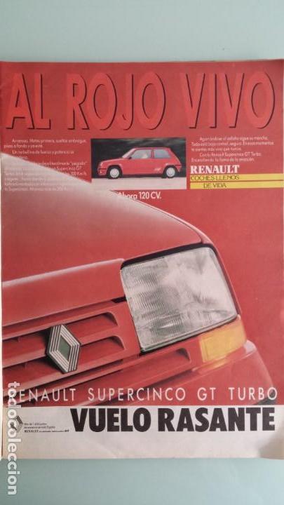 Coches: Revista Coche Actual 19 1988 Citroen BX GTI, Sierra Cosworth; Renault 21 Turbo y 5 GT Turbo - Foto 4 - 130732444