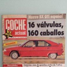 Coches: REVISTA COCHE ACTUAL 19 1988 CITROEN BX GTI, SIERRA COSWORTH; RENAULT 21 TURBO Y 5 GT TURBO. Lote 130732444