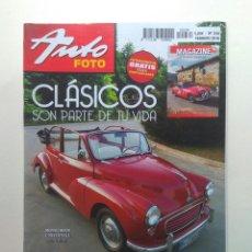 Coches: REVISTA AUTOFOTO N234 MORRIS MINI CONVERTIBLE CABALGATA VITORIA BARREIROS SAETA EBRO CADILLAC DORADO. Lote 130735285
