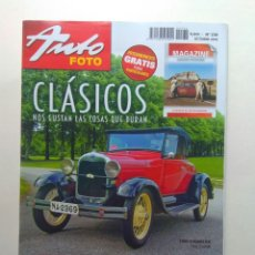 Coches: REVISTA AUTOFOTO N230 FORD A ROADSTER SEAT 124 SEAT 128 1200 BISCUTER OMNIBUS CHEVROLET 1947. Lote 130735610