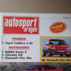 Coches: REVISTA AUTOSPORT ARAGON FEBRERO 1991 RAID DE ZUERA ALCAÑIZ 91. Lote 131025236