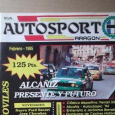 Coches: REVISTA AUTOSPORT ARAGON FEBRERO 1995 ALCAÑIZ PRESENTE Y FUTURO MOTOCROSS VILLA DE EJEA. Lote 131025424