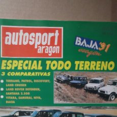 Coches: REVISTA AUTOSPORT ARAGON JULIO 1991 ESPECIAL TT SUBIDA A ALACON BAJA ARAGON RALLYE ARAGON. Lote 131025920