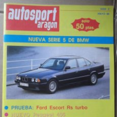Coches: REVISTA AUTOSPORT ARAGON JULIO 1991 ESPECIAL TT SUBIDA A ALACON BAJA ARAGON RALLYE ARAGON. Lote 131026068