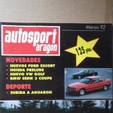 Coches: REVISTA AUTOSPORT ARAGON MARZO 1992 SUBIDA AGUARON FERRARI 348 TB. Lote 131026628