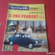 Coches: REVISTA DE COCHES Nº 225 ENERO JANVIER 1965 L´AUTOMOBILE SPORT MECANIQUE FRANCE COCHES CARS MAGAZINE. Lote 131404086