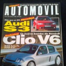 Coches: REVISTA AUTOMÓVIL NÚMERO 254 MARZO 1999 CLIO V6. Lote 131685102