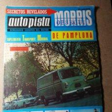 Coches: REVISTA AUTOPISTA. AÑO 21 DE MAYO DE 1966. NÚMERO 381.. Lote 131817882