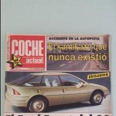 Coches: REVISTA COCHE ACTUAL 16 1987 RENAULT 21 TURBO - ALFA SPRINT - CITROEN BX - PEUGEOT 205 Y RENAULT GTX. Lote 132231822