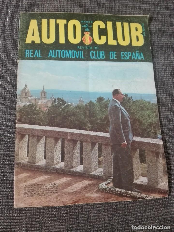 REVISTA AUTO CLUB.MARZO 1968 (Coches y Motocicletas Antiguas y Clásicas - Revistas de Coches)
