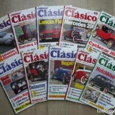 Coches: MOTOR CLASICO-LOTE REVISTAS,10 NUMEROS-AÑO 1995. Lote 133992318