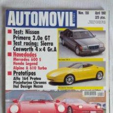 Coches: REVISTA AUTOMOVIL Nº159/PROTOTIPOS-PORSCHE 911 TURBO.. Lote 134212486