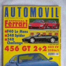 Coches: REVISTA AUTOMOVIL Nº188/ESPECIAL FERRARI.. Lote 134216846