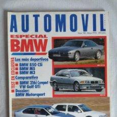 Coches: REVISTA AUTOMOVIL Nº196/ESPECIAL BMW.. Lote 134223094