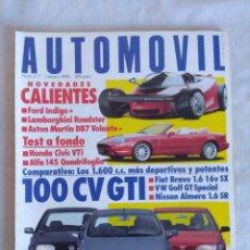 Coches: REVISTA AUTOMOVIL Nº217/LAMBORGHINI ROADSTER/REPORTAJE SCALEXTRIC SEAT 600.. Lote 134280882
