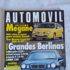 Coches: REVISTA AUTOMOVIL Nº218/MEGANE/GRANDES BERLINAS.. Lote 134298038