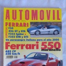 Coches: REVISTA AUTOMOVIL Nº224/ESPECIAL FERRARI.. Lote 134298446