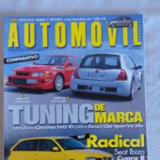 Coches: REVISTA AUTOMOVIL Nº280/RENAULT CLIO SPORT V6/POSTER DAVID COULTHARD-SHUMACHER.. Lote 134300030