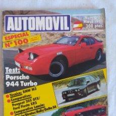 Coches: REVISTA AUTOMOVIL Nº100 ESPECIAL/PORSCHE-FERRARI GTO.. Lote 134307918