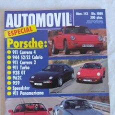 Coches: REVISTA AUTOMOVIL Nº143/ESPECIAL PORSCHE.. Lote 134309074